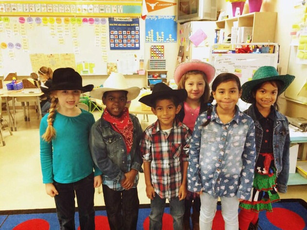 Go Texan Day February 2014 children at school