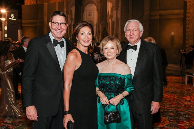 Scott and Soraya McClelland, from left, and Susie and Larry Johnsonat the Winter Ball January 2014