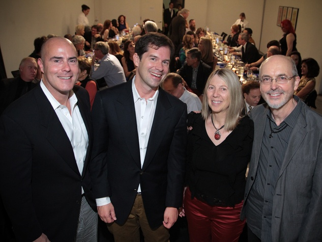 Pepper Paratore, from left, Michael Landrum, Kira Pirov and Bill Viola at the Bill Viola Aurora Picture Show Award party October 2013