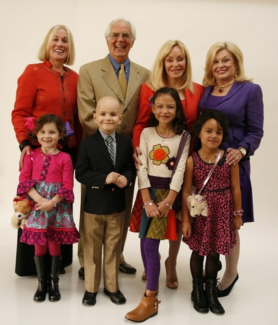 40 Mia Lutz, from left, Elsie Eckert, Peter Evans, Scott Basinger, Avaya Hernandez, Judi McGee Hannah Rylance and Sidney Faust at the Texas Children's Hospital Celebration of Champions luncheon October 2014