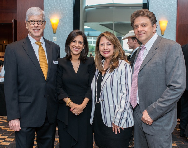 Crime Stoppers luncheon, 6/16 006, Don DeGabrielle, Rania Mankarious, Yvette Webb, Ramy Mankarious.