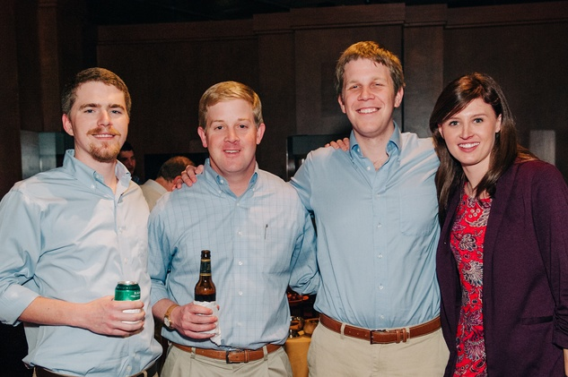 News, Shelby, Museum of Natural Science Catalyst party, Feb. 2015, Lee Timmons, Henry Humphries, Reilly Ettinger, Susan Martin
