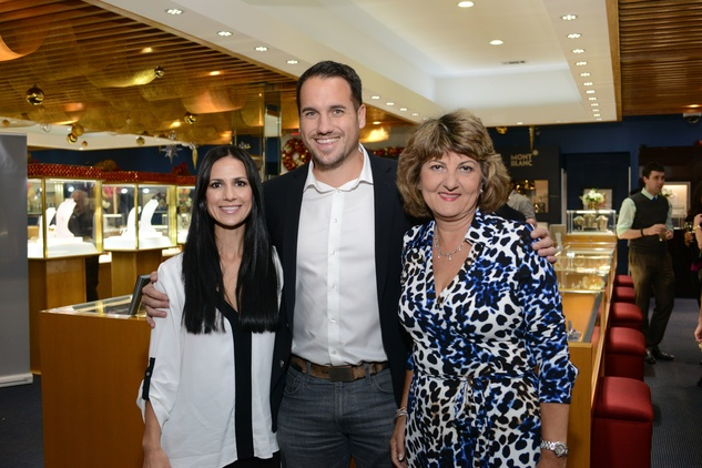 3 27 Nina and Michael Phillips, left, with Nena Najdanovic at the Zadok Jewelers Holiday Party December 2014