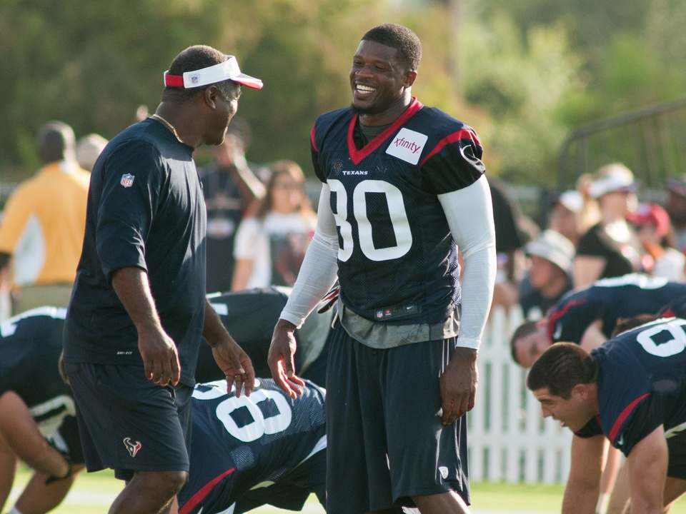 Andre Johnson laugh Texans
