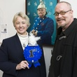 Mayor Annise Parker and Mark Masterson at Art on the Avenue November 2013