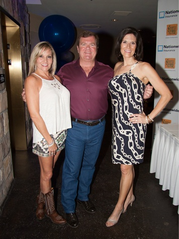 Kristine Huffman, John Jenkins and  Event Emcee, Gina Miller, taste of the NFL