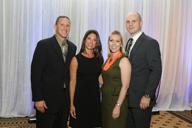 Tad and Jennie Shirley, from left, and Brooke and Nate Richards at the LifeHouse Houston Duck Dynasty dinner September 2014