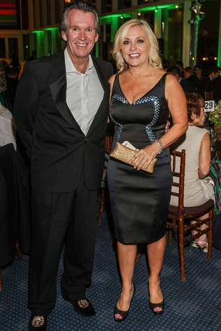 Peter Remington and Karen Deguerin at the Bering Omega's Sing for Hope Event October 2014