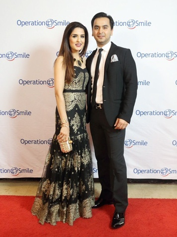 Operation Smile Gala 2015 Sneha and Nick Merchant