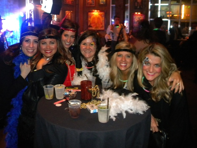 Natalen Castrejana, from left, Kaki Crudup, Stacy Freeman, Katie Wooldridge, Sally Rae and Maria Eleni Koines at the TIRR party January 2015