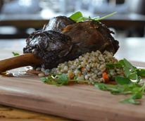 Barley and Board lamb shank
