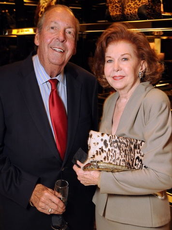 Ed and Dianne McDonough at the Gucci Alley Theatre cocktail party October 2013