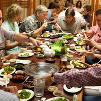 Nam Gang Houston Korean barbecue diners