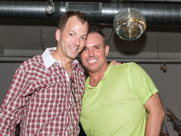 3277 Marc Warren, left, and Steven Duble at Party Like a Rock Star benefiting Planned Parenthood August 2014
