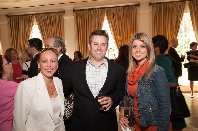 Brittany Zucker, from left, with Peter and Traci Licata at the Foundation for Teen Health luncheon October 2014