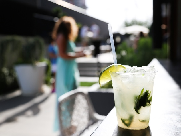 CultureMap Social The W Hotel Wet Deck Mojito