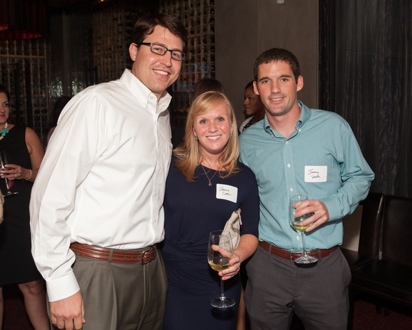 Mikey Gough, from left, Jeanie Oudin and Jimmy Vaeth at Casa de Esperanza Young Professionals party July 2014