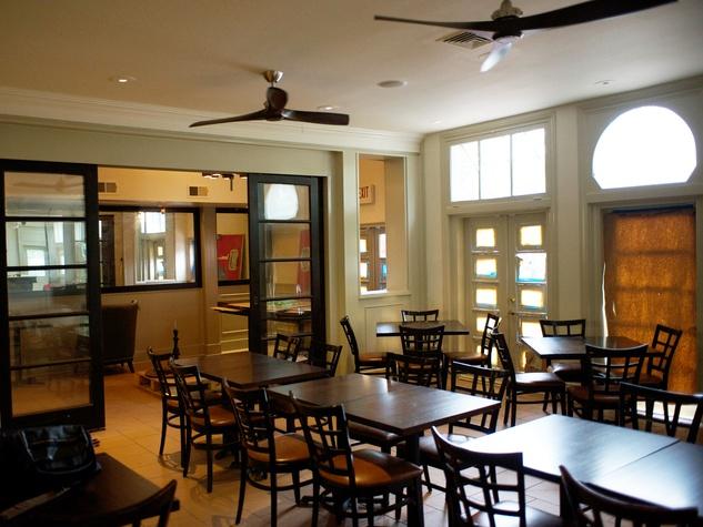 4 Pax Americana Houston restaurant June 2014 dining room during construction