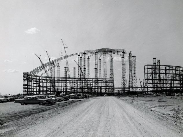 Astrodome, construction, no date