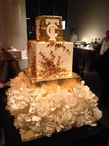 Wedding cake at Todd Fiscus and Ceron's New York wedding