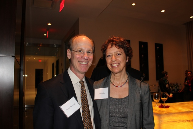 Fred Krasny and Betty Bauer at the Jane's Due Process fundraiser February 2015