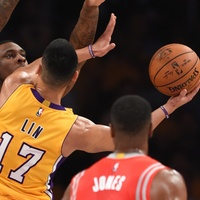 Jeremy Lin rim Lakers