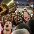 Bayou Bucket trophy celebration