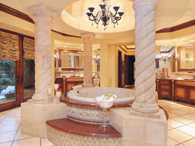 Slideshow inside an nba star 39 s 9 million woodlands for Master bathroom mansion