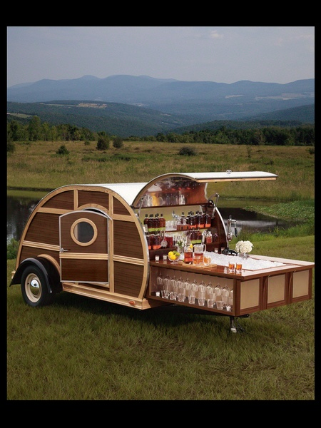 Neiman Marcus, Christmas Book, fantasy gifts, October 2012 , Bulleit Woody Trailer, BLACK SPACE