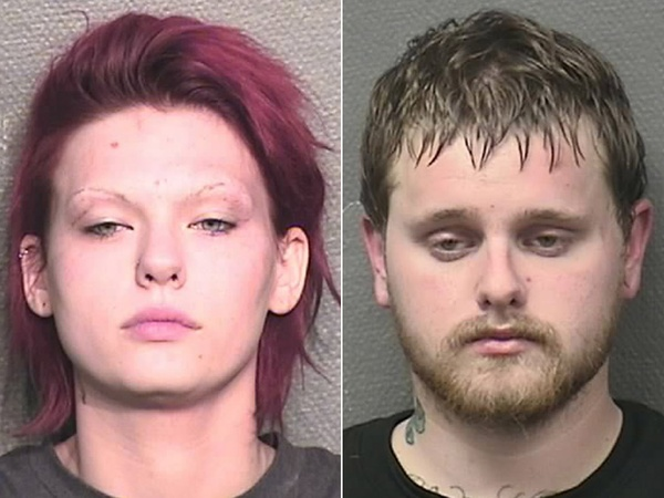 Kaylabeth Ronnenkamp, left, and Nathan Seward, trespassing, Dr. Michael Brown