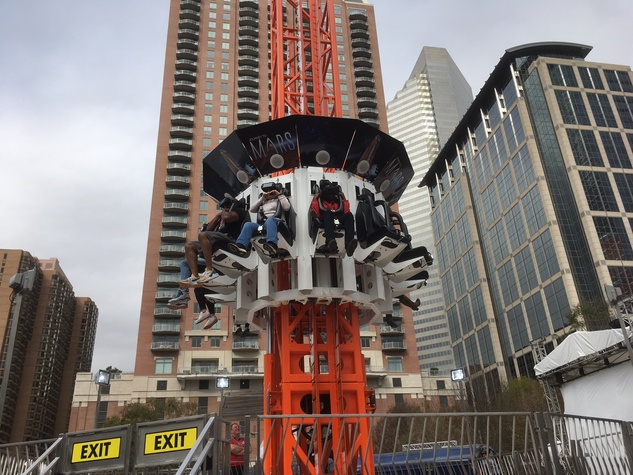 Future Flight Journey to Mars thrill ride at Super Bowl Live