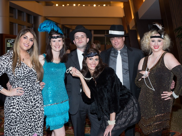 Stephanie Joplin, from left, Shannon and Matthew Cochrane, Haeley Baird and Wells and April McGee at the Covenant House Gala April 2014