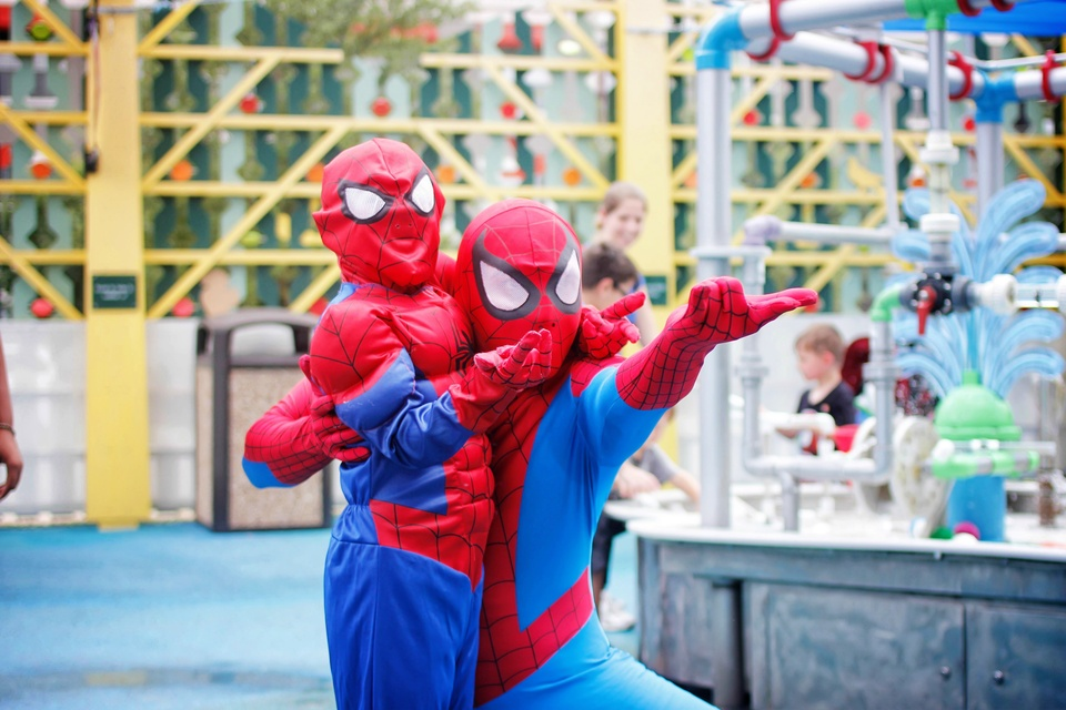 7 Children's Museum with Spiderman Appearance and Silly String Showdown August 2014