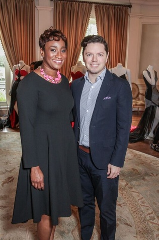 Andrea Bonner, David Peck at Passion for Fashion luncheon