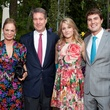 Cindy and Jim Thorp, from left, and Lucy and Hayden Rieveschl at the Rienzi Spring Party April 2014