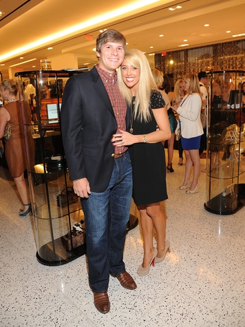 7 Ellis and Jennifer Welker at The Orange Show's A Couture Cause party
