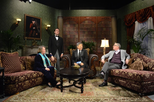 "Helen Mann, butler ""Mr. Rodgers,"" Ernie Manouse, St.John Flynn on the Manor of Speaking set after Downton Abbey"