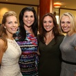 Jennifer Garcia, from left, Candace Mullervy, Kellie Morley and Melissa Erwin at the LifeHouse Houston Duck Dynasty dinner September 2014