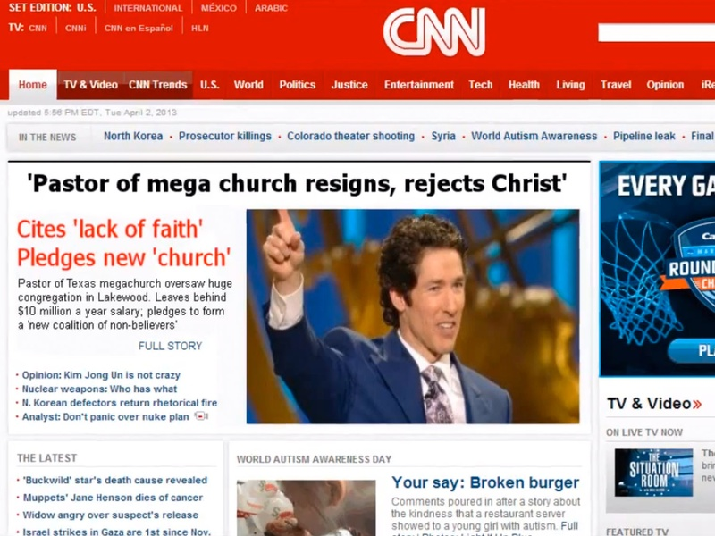 Back to Article: Behind the great Joel Osteen Internet hoax: Who ...