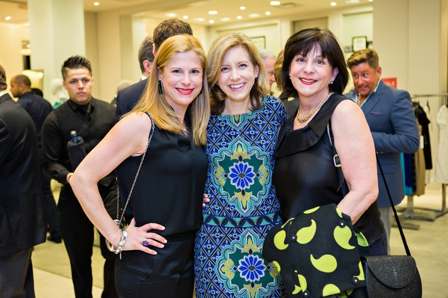 Danielle Batchelor, from left, Christina Hanson and Cookie Centracco at the Houston Symphony Retrospective Exhibit event March 2014