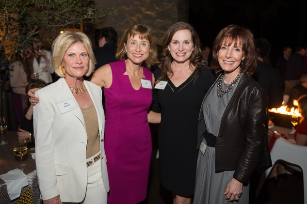 6 Kelli Blanton, from left, Dr. Julie Boom, Cabrina Owsley and Marcy Taub at the The Society for Leading Medicine party February 2015