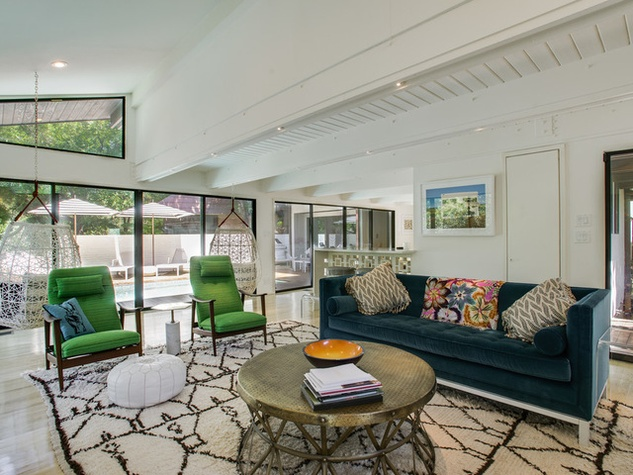 Houzz Dallas house home sunroom Highland Park