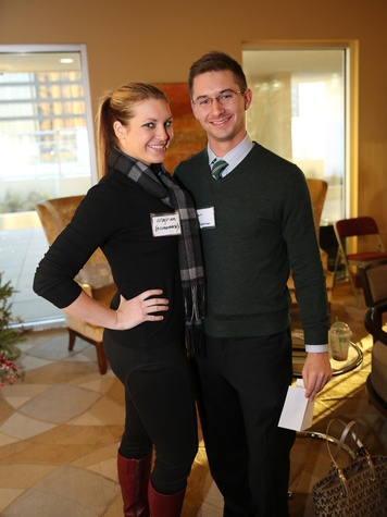 Maghan Pruitt and Ryan Jones at the Modern Professionals murder mystery event December 2013