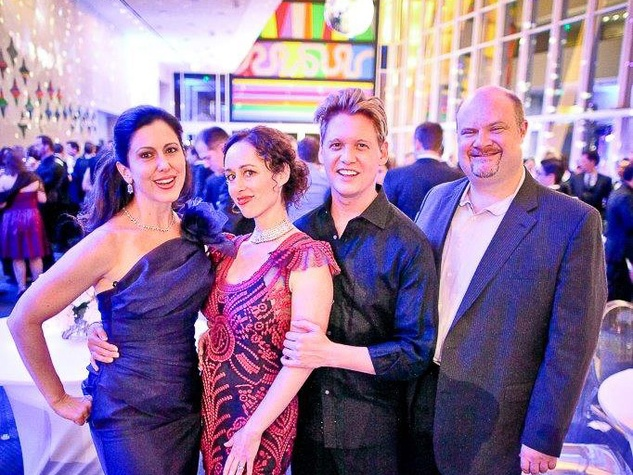 Camille Zamora, from left, Randall Scarlata, Michael Slattery and Jennifer Walsey at Bering Omega's Sing for Hope after-party