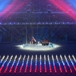 Opening ceremony with raising of Russian flag in Winter Olympics in Sochi