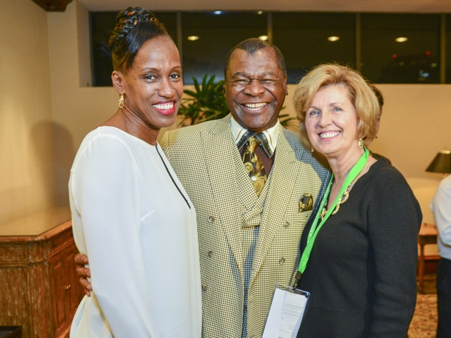 3 Jackie Joyner Kersey, from left, Calvin Murphy and Linda Elliott at the Zina Garrison Academy's 20th Anniversary Gala November 2013