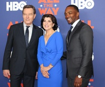 Austin premiere HBO film All the Way LBJ red carpet Bryan Cranston Luci Baines Johnson Anthony Mackie