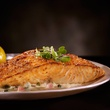 Del Frisco's Double Eagle Steakhouse pan-seared Atlantic salmon
