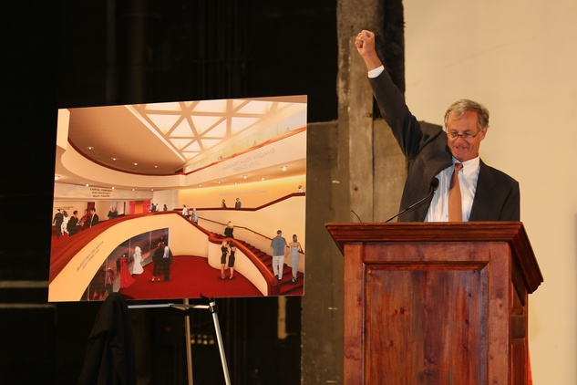 5 Roger Plank at the Alley Theatre groundbreaking luncheon July 2014