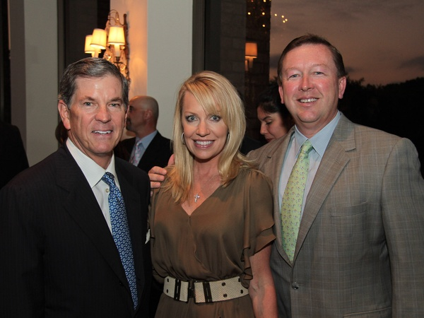 Baylor Friends dinner, October 2012, John Eads, Denise Baggett, David Baggett
